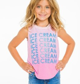 ice cream vintage jersey muscle tank