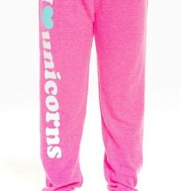 chaser i heart unicorns knit sweatpant