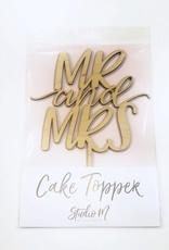 mr & mrs block cake topper