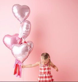 meri meri heart mylar balloons - set of 6 FINAL SALE