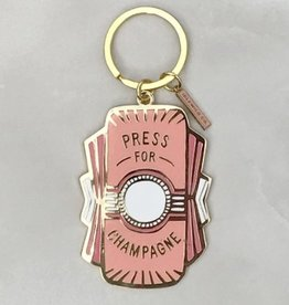 press for champagne keychain - pink FINAL SALE
