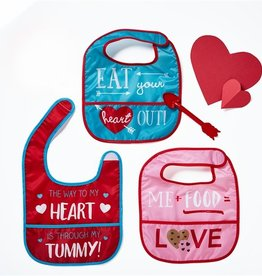 two's company bib n heart arrow spoon FINAL SALE