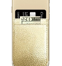 gold faux leather phone pocket