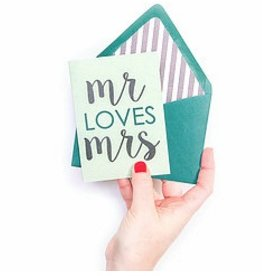 mr loves mrs card