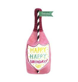 curly girl design happy happy birthday bottle straw card