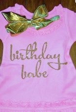 birthday babe toddler dress