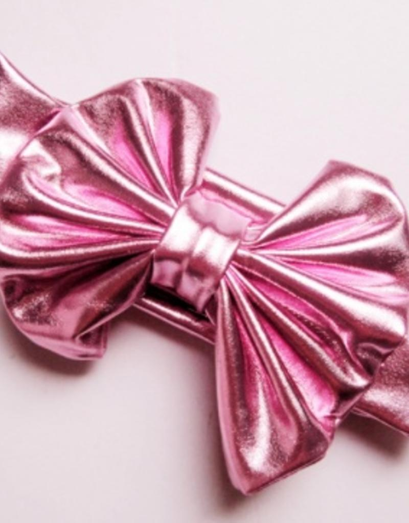 metallic messy bow