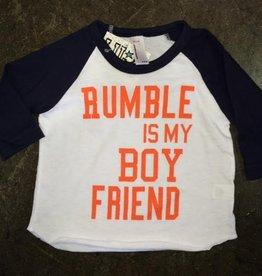 LivyLu rumble is my boyfriend baseball sleeve tee