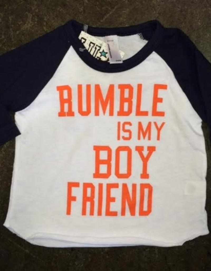 LivyLu rumble is my boyfriend baseball sleeve tee FINAL SALE