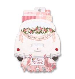 wedding car die cut card