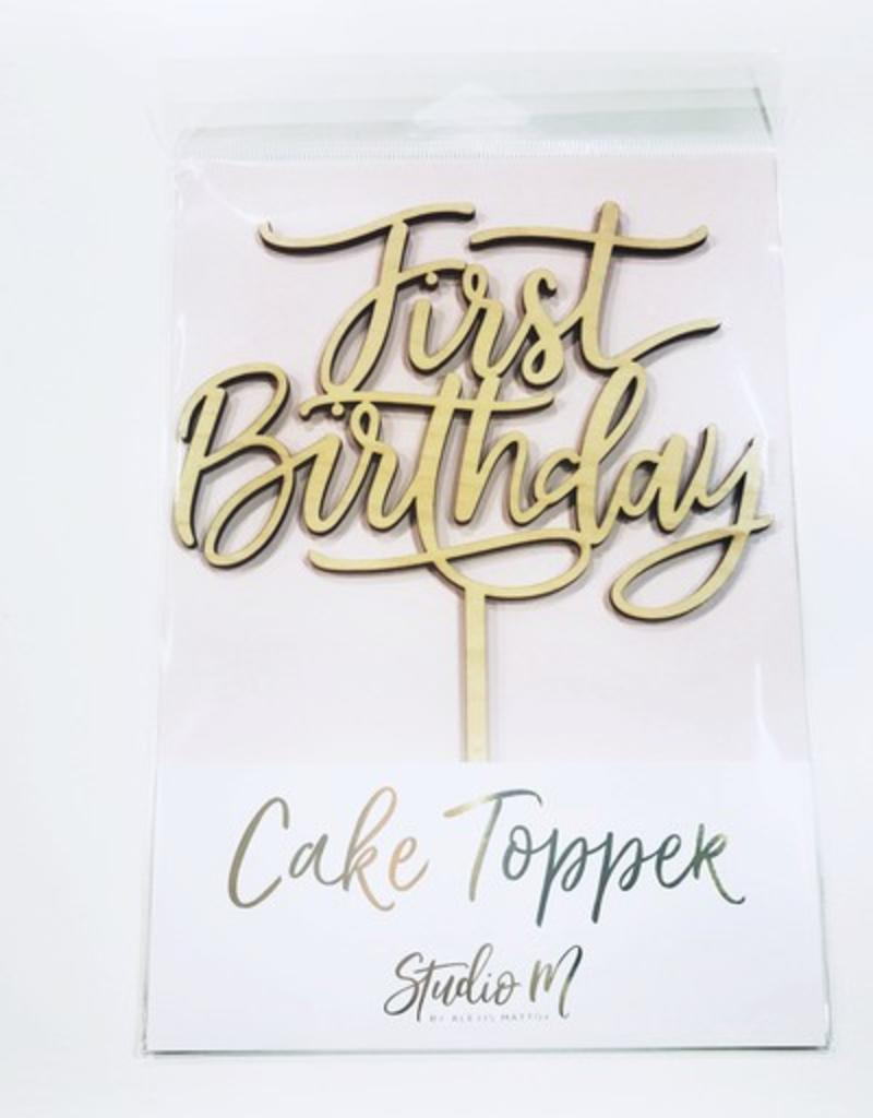 Surprising First Birthday Cake Topper Stash Apparel And Gifts Personalised Birthday Cards Veneteletsinfo
