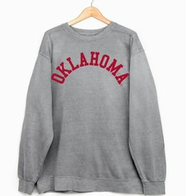 LivyLu oklahoma flocked cc sweatshirt FINAL SALE