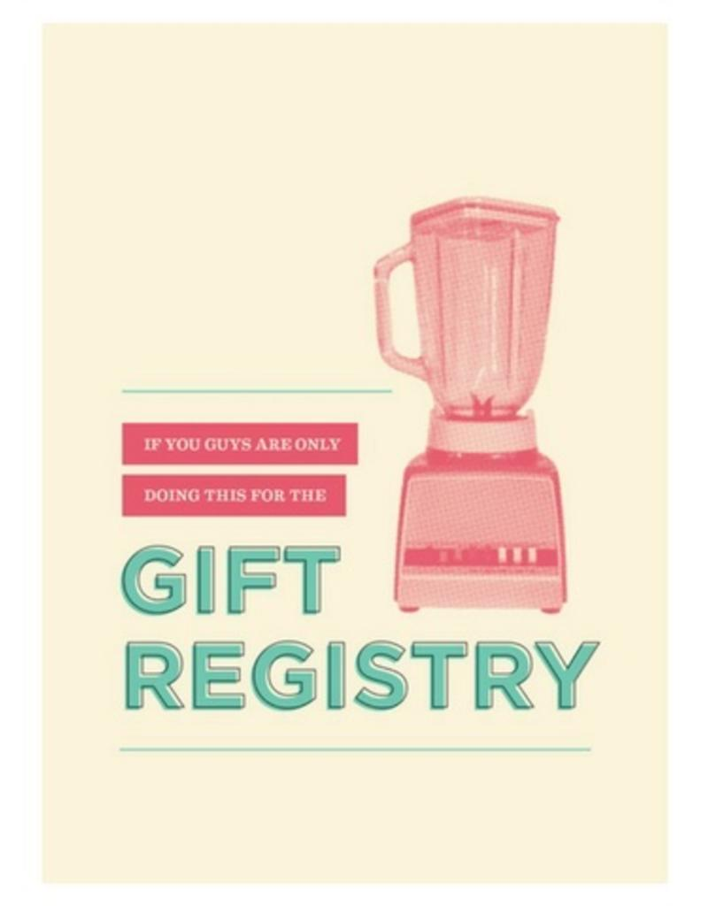 Calypso cards gift registry card