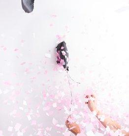 jumbo confetti balloon: gender reveal (pink)