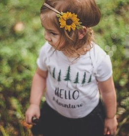 little wild petals felt sunflower clip or headband, clip, one size