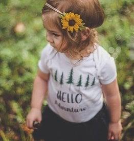 little wild petals felt sunflower clip or headband, clip, one size
