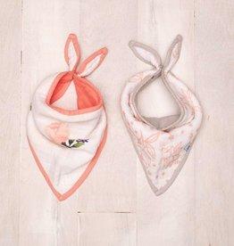 watercolor rose bandana set