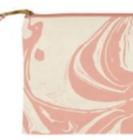slant Peach Marble Cosmetic Bag FINAL SALE