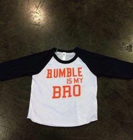 LivyLu rumble is my bro baseball sleeve tee