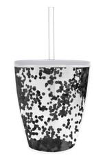 slant black confetti tumbler