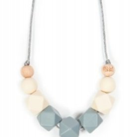 Bella Tunno dim gray teething necklace