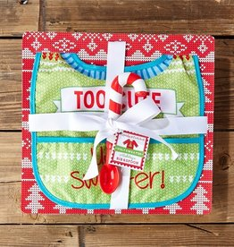 two's company holiday spoon & bib set in gift box FINAL SALE