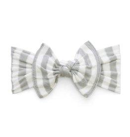 Baby Bling grey stripe knot headband