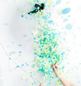 jumbo confetti balloon: gender reveal (blue)