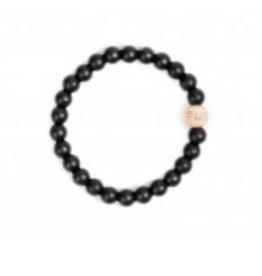 Bella Tunno smoky black teething bracelet