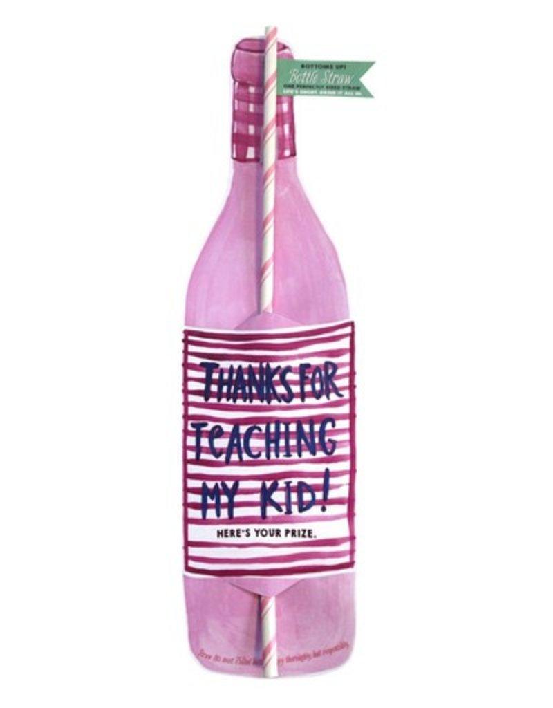 curly girl design thanks for teaching bottle straw