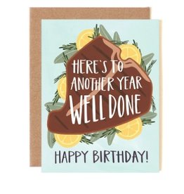 well done birthday card