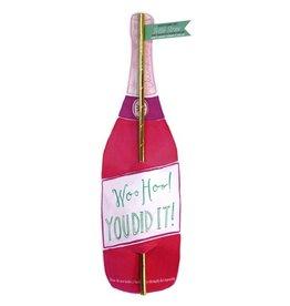 curly girl design woo hoo bottle straw card