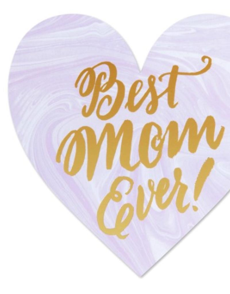 best mom ever heart card