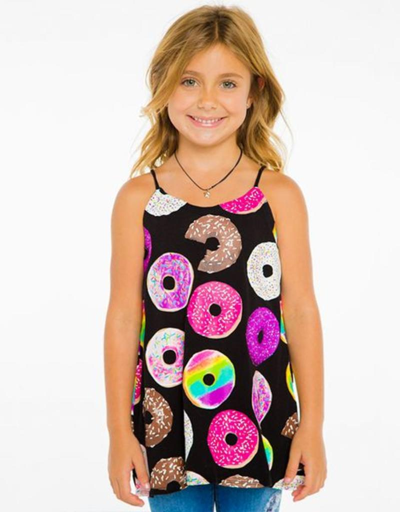 donuts jersey flounce cami