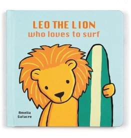 jellycat leo the lion who loves to surf book