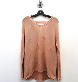 vintage havana dusty pink star sweater FINAL SALE