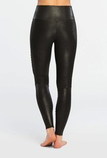 spanx faux leather moto leggings