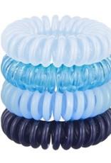 4 pack hair coils - denim