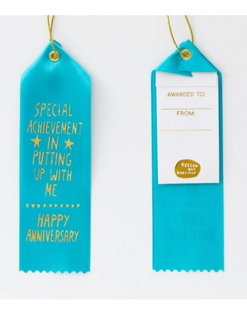 anniversary award ribbon