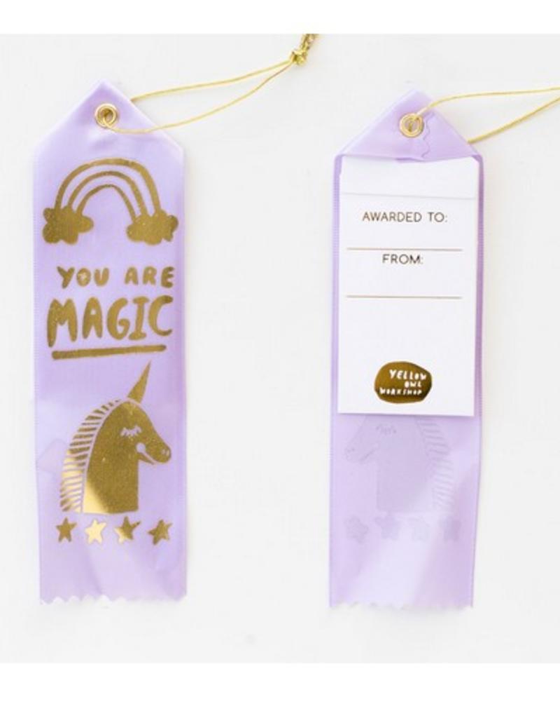 you are magic unicorn award ribbon
