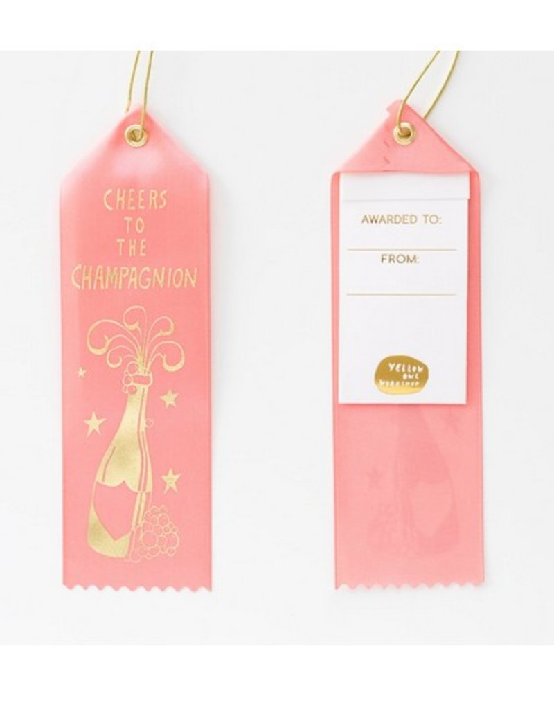 cheers to the chamagnion award ribbon