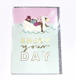 Calypso cards swan birthday card