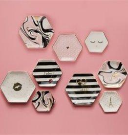 two's company j'adore set of 3 trinket trays