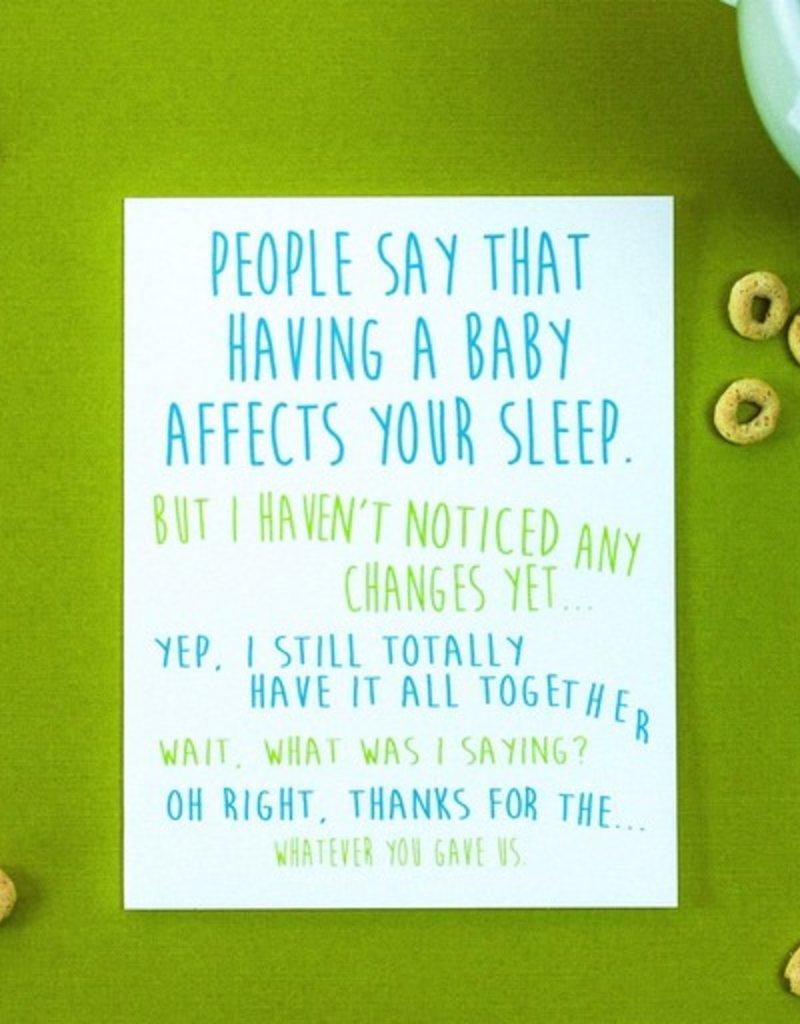 baby affects sleep