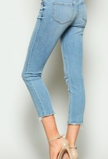 mid rise crop skinny jeans