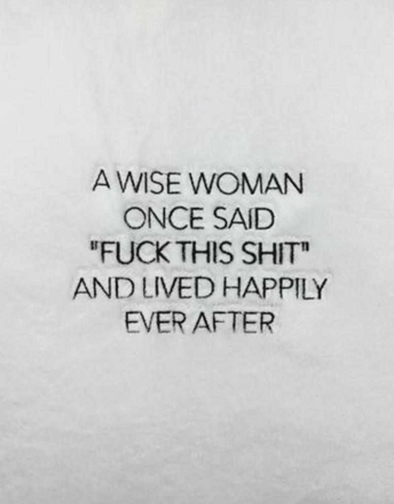 los angeles trading co a wise woman plush robe