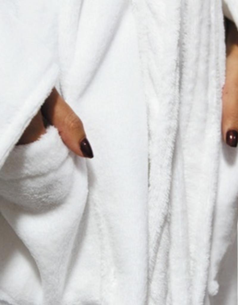a wise woman plush robe