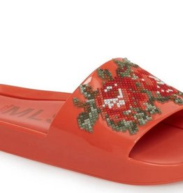 melissa beach slide flower red FINAL SALE