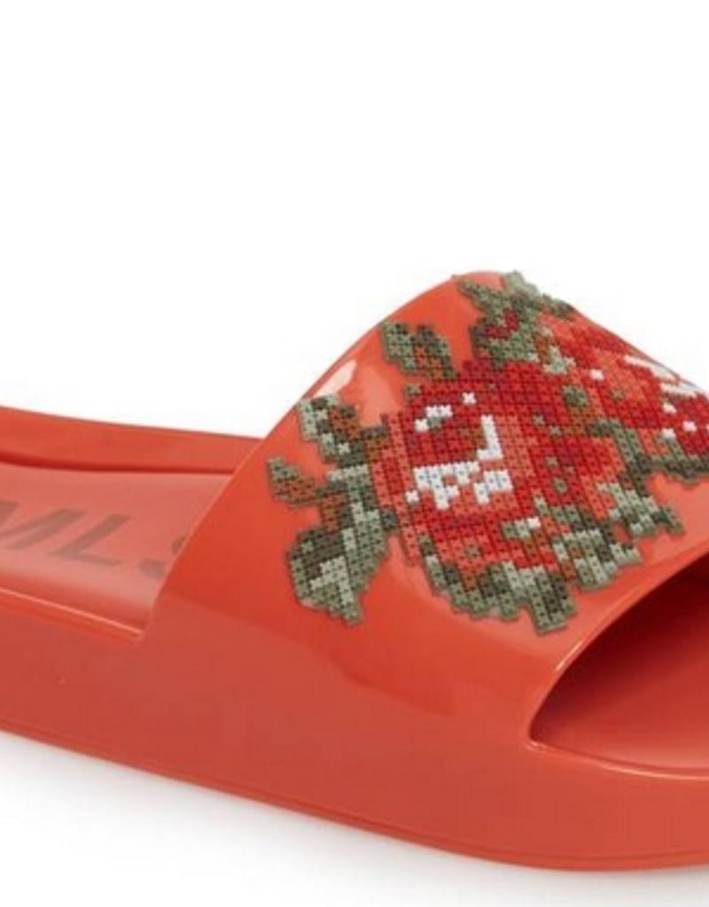 melissa beach slide flower red FINAL SALE