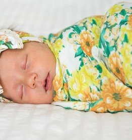 Baby Bling granny floral swaddle set
